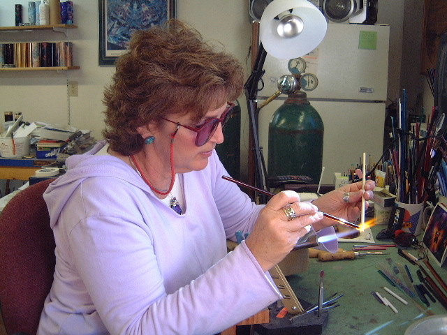 Peggy creating object cell pieces